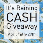 It's Raining Cash Giveaway – #Blogger Opportunity