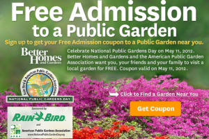Celebrate National Public Gardens Day at the #Atlanta History Center & No Admission Charge