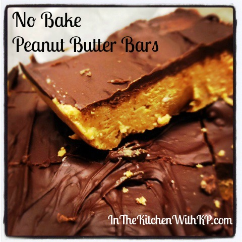 No Bake Peanut Butter Bars 2