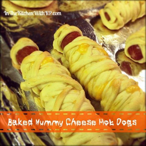 Baked Mummy Cheese Dogs InTheKitchenWithKPRecipe