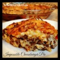 Impossible Cheeseburger Pie #SundaySupper #BakeForACure