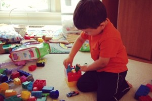 A Boy And His Blocks – Wordless Wednesday