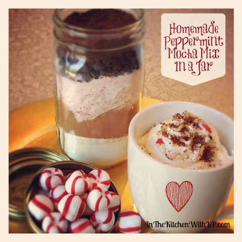 Homemade Peppermint Mocha Mix in a Jar www.InTheKitchenWithKP