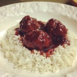 Lip-smacking Cranberry Cocktail Meatballs #SundaySupper #Appetizer