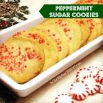 Peppermint Sugar Cookies #SundaySupper Cookie Exchange