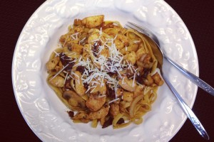 Garlic and Herb Chicken Fettuccine #SautéExpress #SundaySupper
