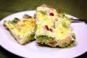Savory Ham, Cheese, Broccoli and Egg Bake