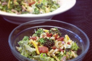 Sweet and Smoky Broccoli Salad #RetroRecipe #SundaySupper