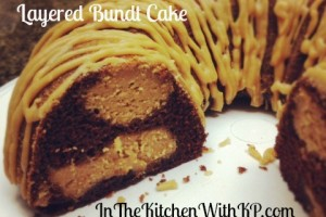 Chocolate Peanut Butter Layered Bundt Cake #BundAMonth