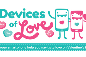 How Your Smartphone Helps Navigate Love on Valentine's Day Infographic #VZWA