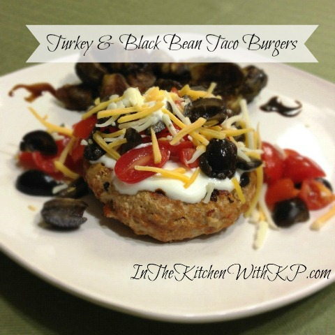Turkey Black Bean Taco Burgers