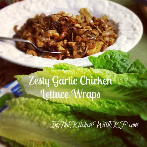 Zesty Garlic Chicken Lettuce Wraps