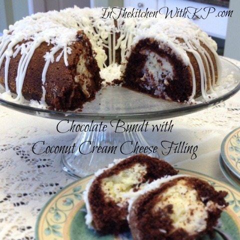 Chocolate Bundt With Coconut Cream Cheese Filling #BundtAMonth - In The Kitchen With KP