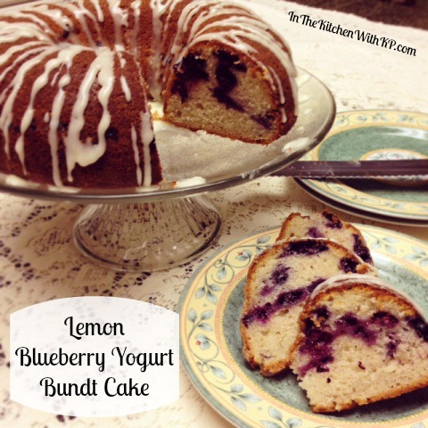 Lemon Blueberry Yogurt Bundt Cake With @Chobani