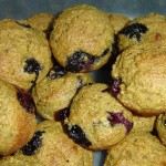 Sunday Baking in the Kitchen – Low-Fat Blueberry Bran Muffins