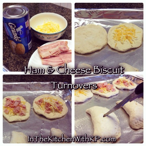 Easy Ham and Cheese Biscuit Turnovers