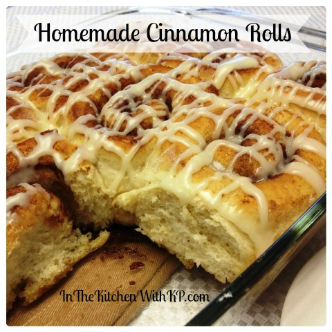 Homemade cinnamon rolls with glaze