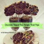 Chocolate Dipped Rice Krispie Treat Pops #SundaySupper #PicnicRecipes