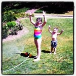 Running Through Sprinkler Rainbows – Wordless Wednesday