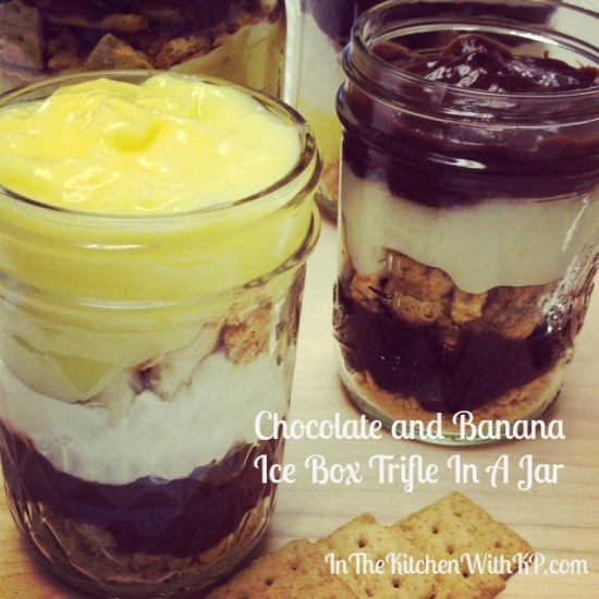 Chocolate and Banana Ice Box Trifle In A Jar 3