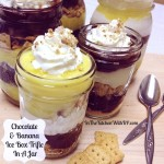 Chocolate and Banana Ice Box Trifle In A Jar #SundaySupper