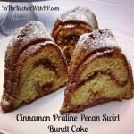 Cinnamon Praline Pecan Swirl Bundt Cake #BundtAMonth