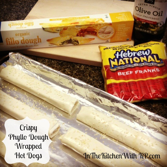 Crispy Phyllo Dough Wrapped Hot Dogs 2