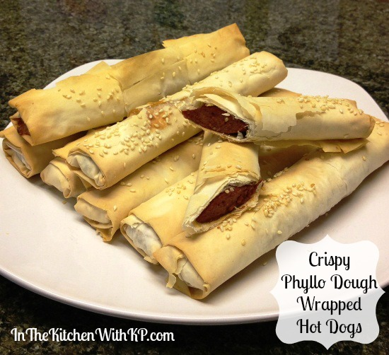 Crispy Phyllo Dough Wrapped Hot Dogs