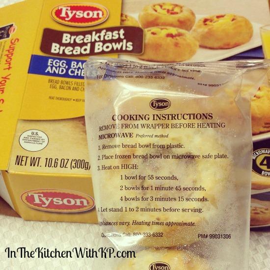 Tyson Breakfast Bread Bowls 1