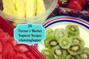 34 Farmer's Market Inspired Recipes for #SundaySupper