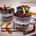 Cookies and Creme Dirt Dessert Cups to Celebrate Gummi Worm Day