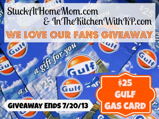 Gulf Gas Card 25 Dollar Giveaway
