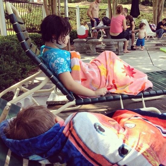 pool resting