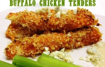 Crispy-Oven-Fried-Buffalo-Chicken-Tenders-ww.InTheKitchenWithKP #recipe