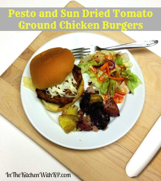#ad Pesto and Sun Dried Tomato Ground Chicken Burgers #CreateAMeal #Cbias 1
