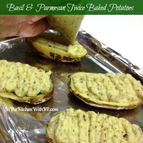 Basil Parmesan Twice Baked Potatoes 3