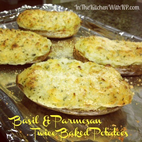 Basil Parmesan Twice Baked Potatoes 6