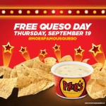 Moe's Southwest Grill Free Queso Day Returns Sept 19th #MoesFamousQueso
