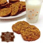 Pumpkin Chocolate Chip Oatmeal Cookies Fall Inspired #SundaySupper