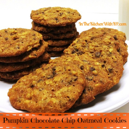 Pumpkin Chocolate Chip Oatmeal Cookies 5