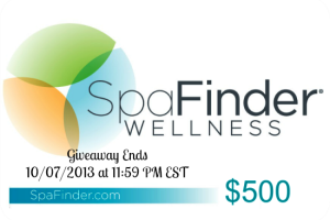 Gift Some Relaxation to Yourself $500 SpaFinder Gift Card Giveaway
