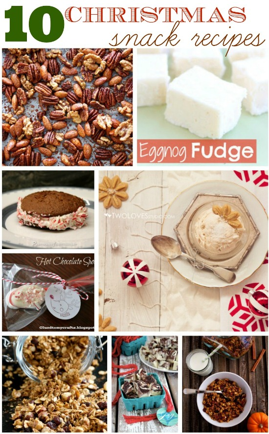10-Festive Christmas-Snack Recipes www.InTheKitchenWithKP #recipe