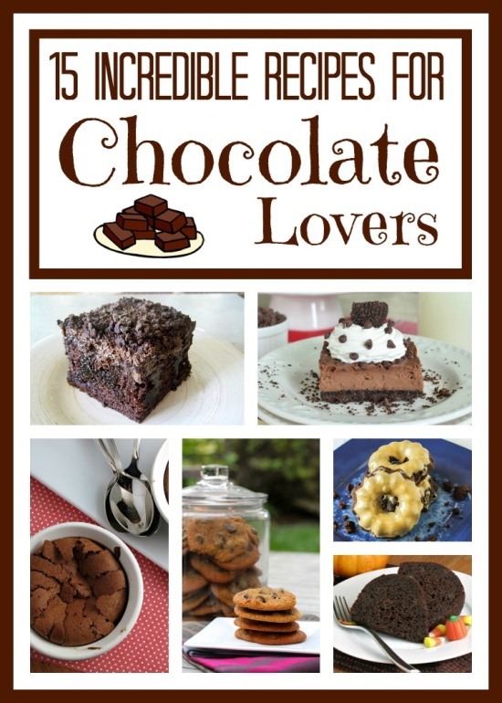 15 Incredible Recipes for Chocolate Lovers #recipe www.InTheKitchenWithKP