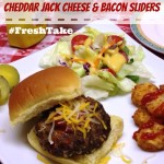 Cheddar Jack Cheese and Bacon Sliders #FreshTake
