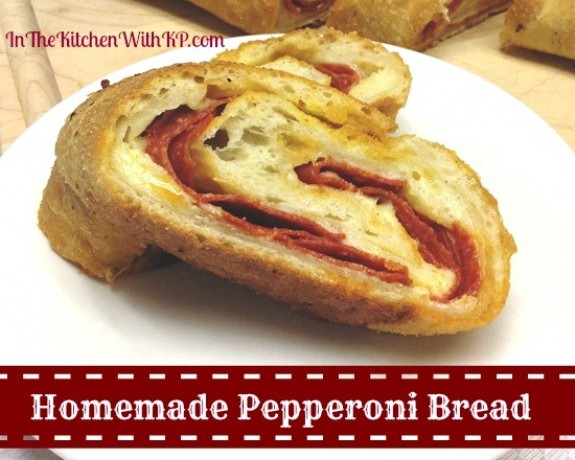 Homemade-Pepperoni-Bread-recipe-In-The-Kitchen-With-KP #recipe #pepperonibread