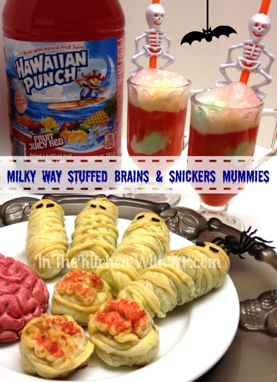 Milky Way Stuffed Brains Snickers Mummies #SpookyCelebrations #Shop In The Kitchen With KP