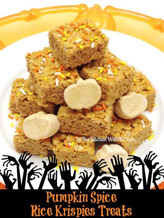 Pumpkin Spice Rice Krispies Treats www.InTheKitchenWithKP 1