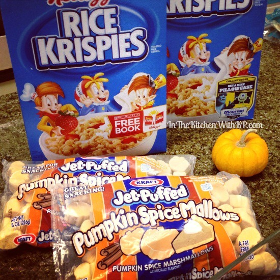 Pumpkin Spice Rice Krispies Treats www.InTheKitchenWithKP 4