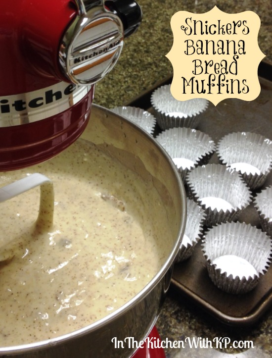 Snickers Banana Bread Muffins #recipe #shop In The Kitchen With KP
