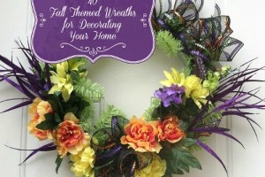 40 Fall Themed Wreaths for Decorating Your Home